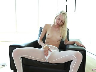 Blonde Sierra Nevadah pleases a friend by making out with him hard