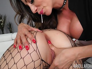 Lesbians in fishnets Ariella Ferrera and Shelby Paris please each revision