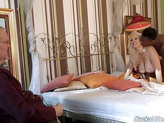 Alluring big breasted MILFie wife Angel Wicky cheats on hubby with starless stud