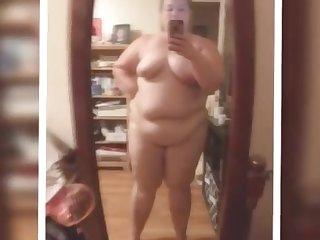 BBW granny Lisa Hull posing for homemade mother wit