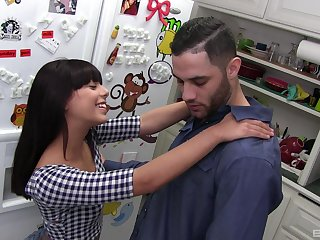 Pussy fingered, throated and lip with cum tattooed slut Gina Valentina
