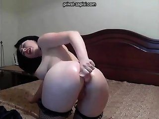 Unsurpassed angel enjoys anal abuse with toys