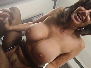 Full-grown maid deals master's huge ebony cock in rough modes