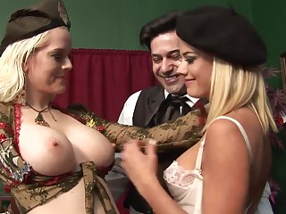 Highly Interesting Rectal 3Some Hook-Up At hand Whorey Blondes