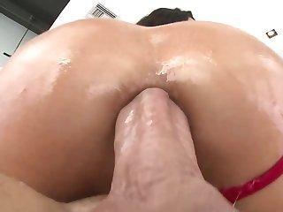 Spanish tart Alexa Tomas receives thick penis procure her ass