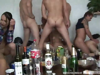 Young Amateur Girls Pounded at Hardcore Home Party