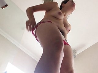 Brunette wed shower with an increment of dressing hidden cam
