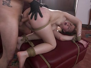 Jenna Clove gets anal fucked close to merciless BDSM play