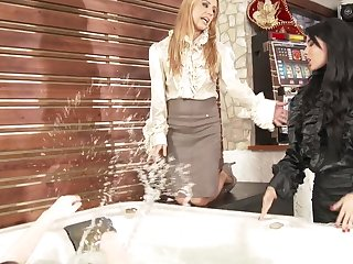 Anissa Kate is ready for a lesbian group for friend's eat one's fill ribbon