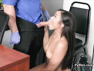 Ebony blows cock on leaked office cctv video