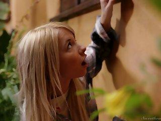 Blond girl Kenzie Reeves is spying on perfectly shaped milf living nextdoor