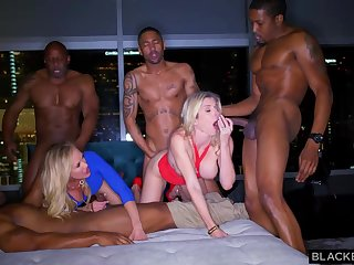 Ash-Blonde womanlike is permanently orgying with many dark-hued boys, until she finishes close to downright fustigate