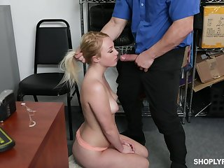Stabilizer guy punishes X-rated gilded chick Dixie Lynn of shoplifting