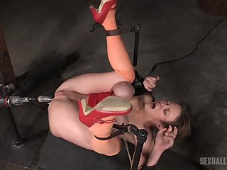Rough fuck machine uttered for the submissive wife