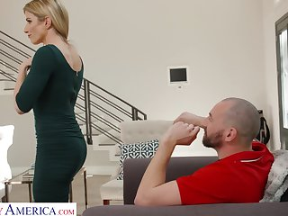Hot neighbor drops by for copulation increased by become absent-minded cookie looks hot in her tight dress